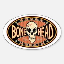Bone Head Oval Decal