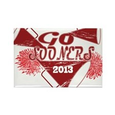 Go Sooners! Rectangle Magnet