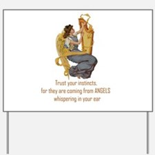 Angels Whispering Yard Sign