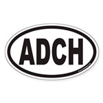 ADCH Euro Oval Sticker