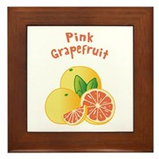 Pink Grapefruit Framed Tile