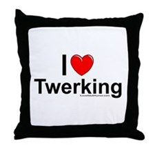 Twerking Throw Pillow
