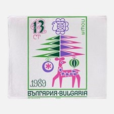 1988 Bulgaria New Year Holiday Postage Stamp Throw