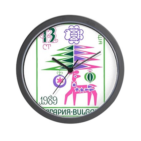 1988 Bulgaria New Year Holiday Postage Stamp Wall