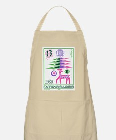 1988 Bulgaria New Year Holiday Postage Stamp Apron