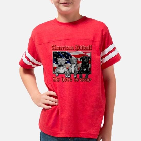 americanpitbull2 Youth Football Shirt