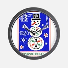1989 Bulgaria Holiday Snowman Postage Stamp Wall C