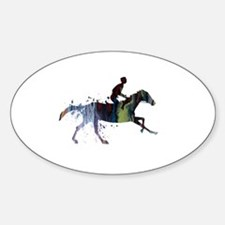 Horse and jockey Decal