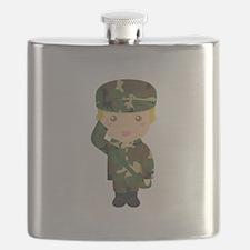Cute Army Cadet Boy Flask