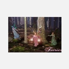 Cute Fairies Rectangle Magnet