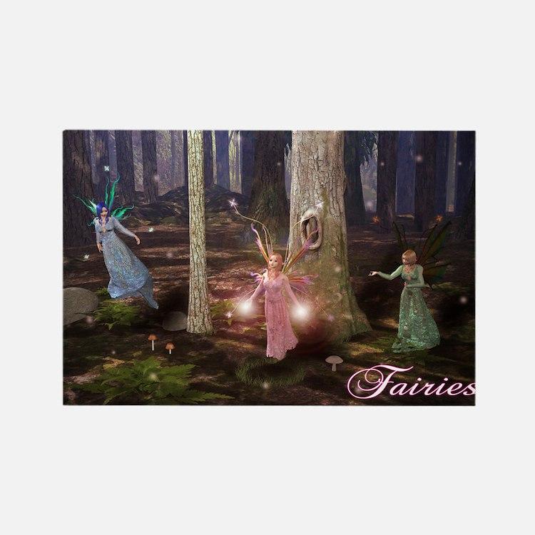 Cute Fairies Rectangle Magnet