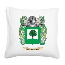 O'Flanagan Coat of Arms (Family Crest) Square Canv