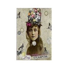 Lady Steampunk Rectangle Magnet