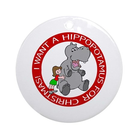Hippo Christmas Ornaments | 1000s of Hippo Christmas Ornament Designs