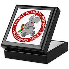 Hippopotamus For Christmas Keepsake Box