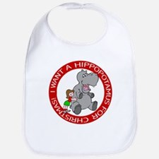 Hippopotamus For Christmas Bib