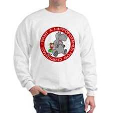 Hippopotamus For Christmas Sweatshirt