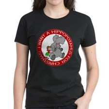Hippopotamus For Christmas Tee