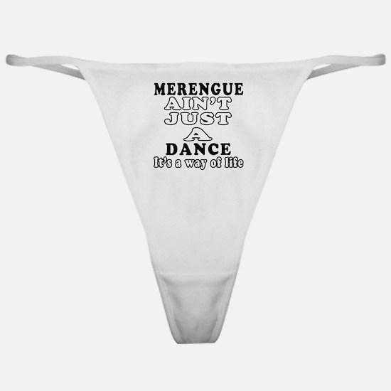 Merengue Not Just A Dance Classic Thong