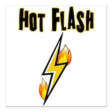 "Hot Flash Square Car Magnet 3"" x 3"""