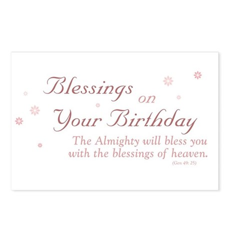 Blessings on Your Birthday Postcards (Package of 8