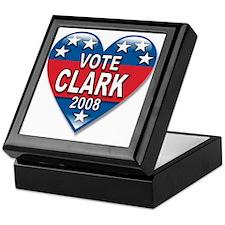 Vote Wes Clark 2008 Elect Political Keepsake Box