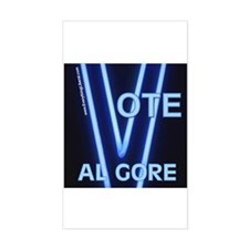 Al Gore Neon Vote Rectangle Decal