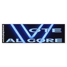 Al Gore Neon Vote Bumper Bumper Sticker