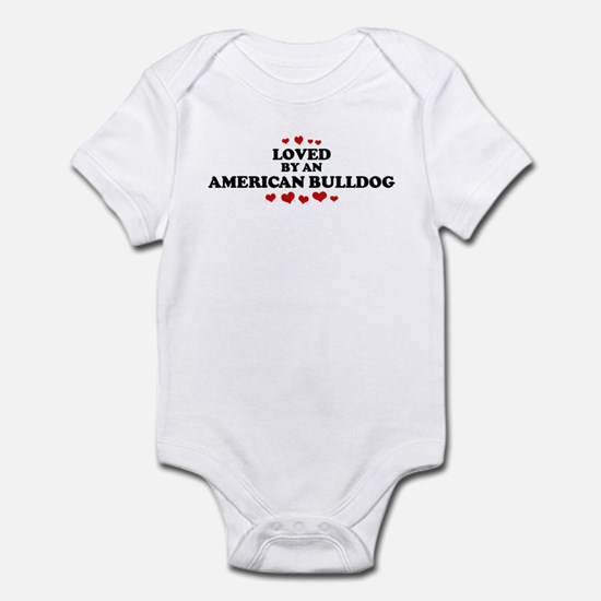 Loved: American Bulldog Infant Bodysuit