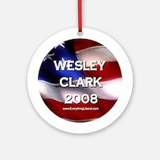 Wesley Clark Flag II Ornament (Round)
