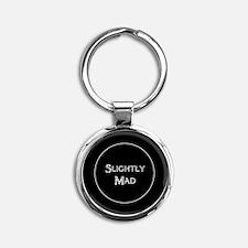 Slightly Mad Round Keychain