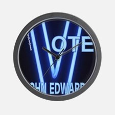 John Edwards Neon Vote Wall Clock