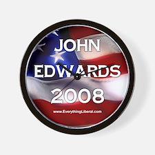 John Edwards Flag II Wall Clock