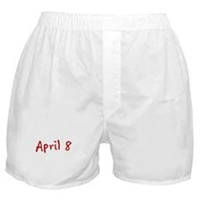 """""""April 8"""" printed on a Boxer Shorts"""