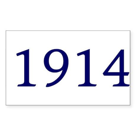 1914 Rectangle Sticker