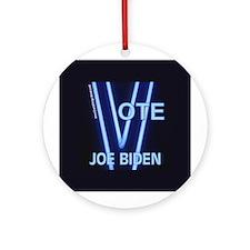 Joe Biden Neon Vote Ornament (Round)