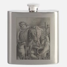 Daisy and her pets - 1876 Flask