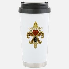 Monogram L Fleur-de-lis Stainless Steel Travel Mug