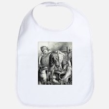 Daisy and her pets - 1876 Cotton Baby Bib