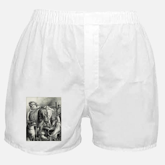 Daisy and her pets - 1876 Boxer Shorts