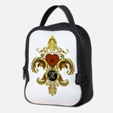 Monogram M Fleur-de-lis Neoprene Lunch Bag
