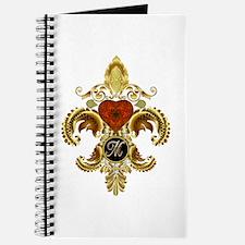 Monogram M Fleur-de-lis Journal