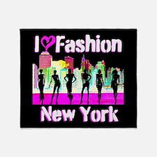 NYC FASHION Throw Blanket