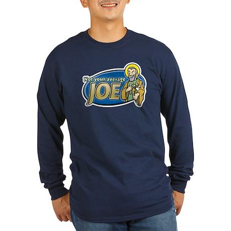 Average Joe Long Sleeve Dark T-Shirt