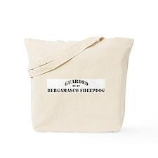 Bergamasco Sheepdog: Guarded  Tote Bag