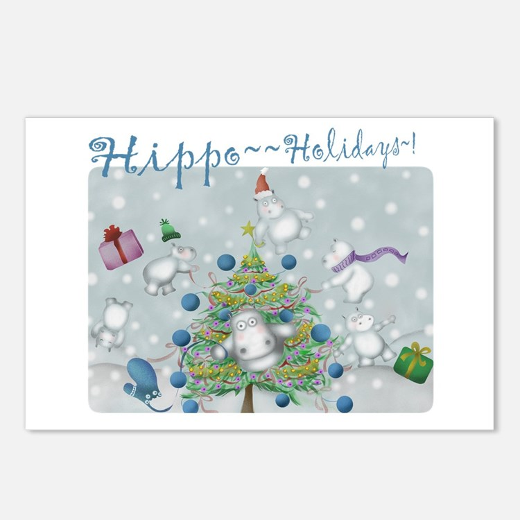 Hippo Holidays Postcards (Package of 8)