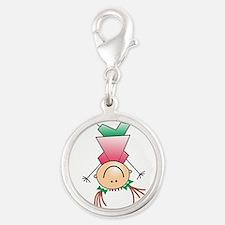 Cartoon Stick Figure Girl Cartwheel Charms