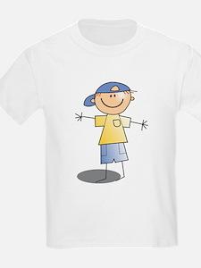 Stick Figure Boy Baseball Cap T-Shirt