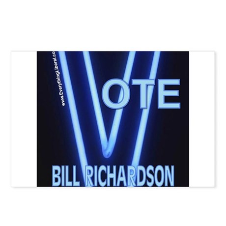 Bill Richardson Neon Vote Postcards (Package of 8)
