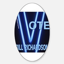 Bill Richardson Neon Vote Oval Decal